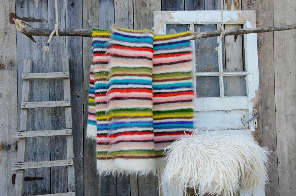 Short Wool | striped | - full color | Long wool - white | WOL