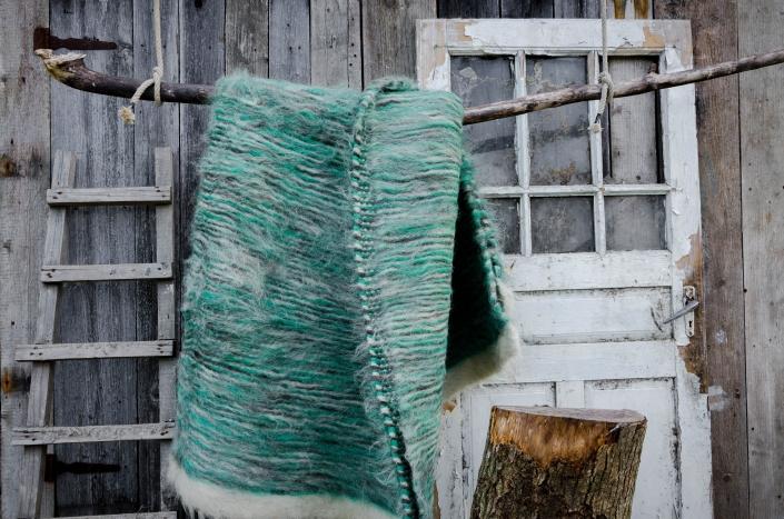 Short Wool - green   WOL