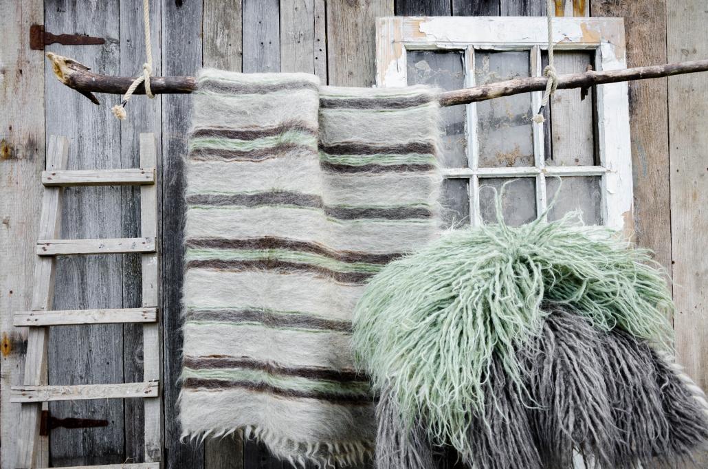 Short Wool | striped | Long Wool - green | WOL