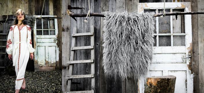 Long Wool - light gray   WOL
